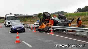 Accident spectaculaire sur l'autoroute A64 à l'est de Tarbes - LaDepeche.fr