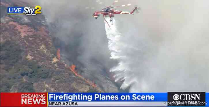 Dam Fire Burns 240 Acres In Angeles National Forest Area North Of Azusa