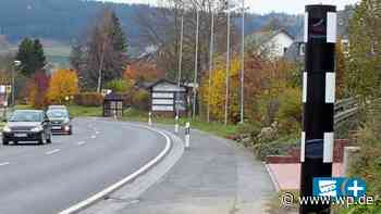 Olsberg: Chance für Blitzsäule an B7 in Antfeld gegen Raser - Westfalenpost