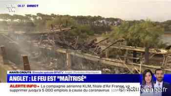 L'incendie à Anglet a atteint le parc écologique d'Izadia dans la forêt de Chiberta - Actu Orange
