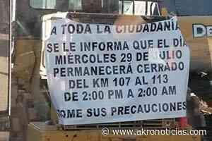 12 horas durara cerrado el tramo Janos- Agua Prieta por modernización - Akro Noticias