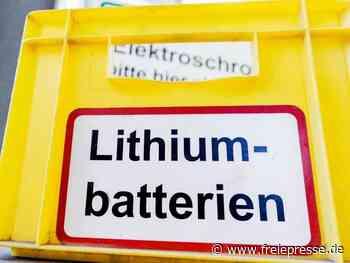 Batterien und Akkus nicht im Hausmüll entsorgen - Freie Presse