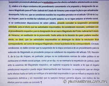 Se caen nombramientos de magistrados impuestos por Cuitlahuac García, tres magistrado se amparan - plumas libres