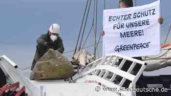 Greenpeace beendet Versenken von Steinen vor Rügen - Süddeutsche Zeitung