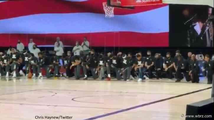 New Orleans Pelicans, Utah Jazz kneel during national anthem in support of Black Lives Matter