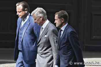 De Wever en Magnette bij de koning