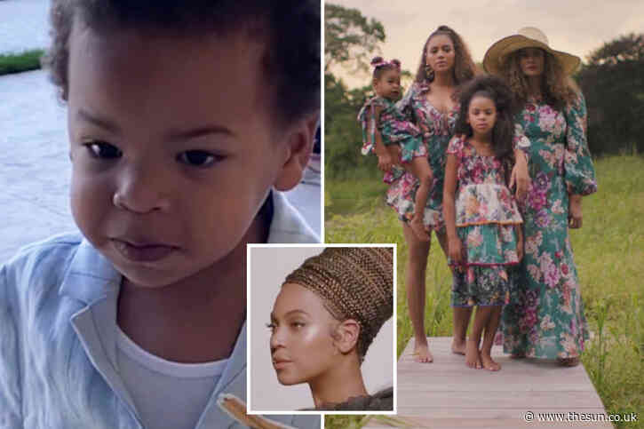Beyonce and Jay-Z's twins Rumi and Sir, 3, make rare appearance in famous singer's new visual album Black Is King