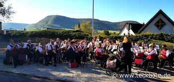 Der Musikverein Owen meldet sich mit einem ersten Platzkonzert zurück - Lenninger Tal - Teckbote - Teckbote Online