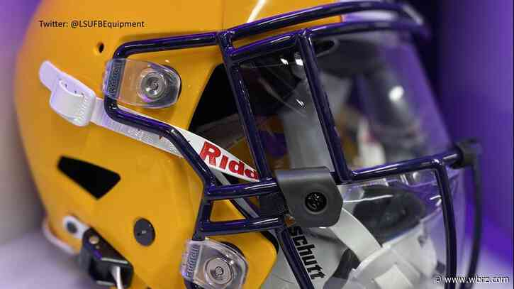LSU outfits football helmets with face shields