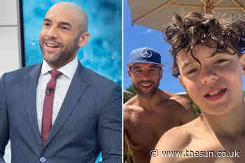 Good Morning Britain's Alex Beresford shares shirtless selfie with lookalike son Cruz after split from wife - The Sun