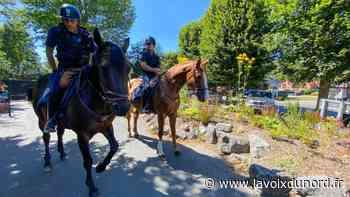 Ce mercredi à Maubeuge, les policiers ont patrouillé… à cheval - La Voix du Nord