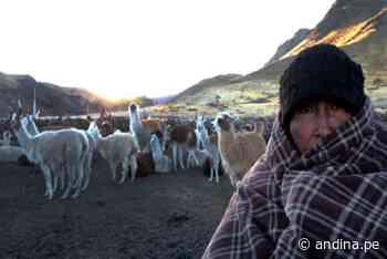 Zonas altas de la sierra centro soportarán temperaturas nocturnas de 8 grados bajo cero - Agencia Andina