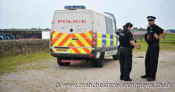Police responding to an illegal gathering at Audenshaw Reservoir