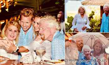 Sir Richard Branson celebrates 70th birthday at surprise party - Daily Mail