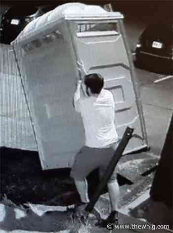 Kingston Police searching for 'porta potty pusher'