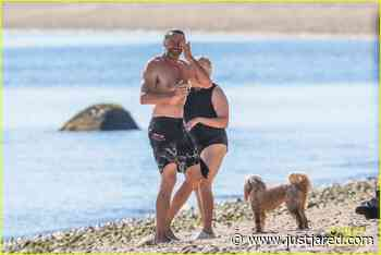 Hugh Jackman Goes Shirtless for Beach Day with Wife Deborra Lee Furness! | hugh jackman goes shirtless day at beach with wife deborra lee furness 05 - Photo - Just Jared