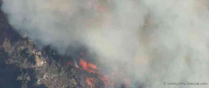 Dam Fire Burns Hundreds Of Acres In Angeles National Forest Area North Of Azusa