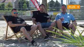 Sie wollen trotz Corona Urlaubsfeeling im Strand-Biergarten - Augsburger Allgemeine