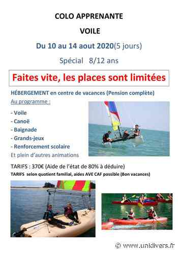 COLO SÉJOUR MINI-CAMP VOILE Le Bourget du lac lundi 10 août 2020 - Unidivers