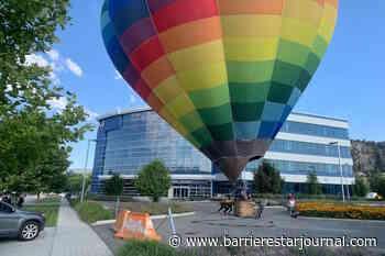 Colourful hot air balloon makes unexpected landing at Okanagan business - Barriere Star Journal