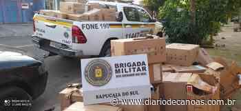 BM apreende carga de cigarros contrabandeados em Sapucaia do Sul - Diário de Canoas