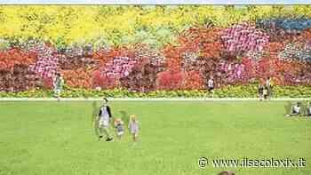 Parete verde fiorita, prato e un labirinto nell'area del depuratore - Il Secolo XIX