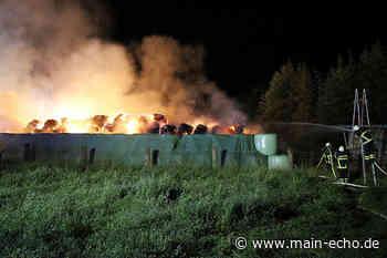 Beißender Rauch durch Heuballenbrand in Miltenberg - Feuer erneut aufgeflammt - Main-Echo