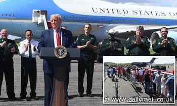 Donald Trump fails to draw a crowd as he lands in Florida