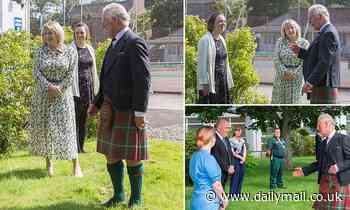 Prince Charles dons traditional Scottish wear to give 'morale boost' on hospital visit
