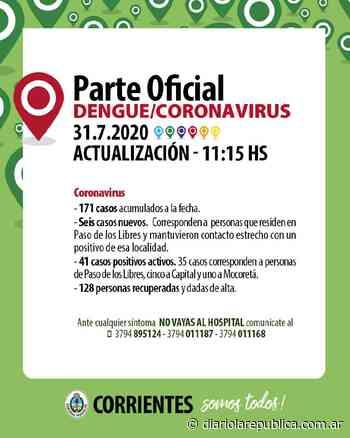 Seis nuevos casos de coronavirus en Paso de los Libres y ya son 35 - Diario La República