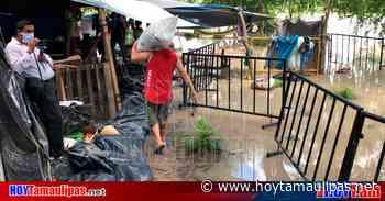Comienza a inundarse el campamento de migrantes en Matamoros; no han sido evacuados - Hoy Tamaulipas
