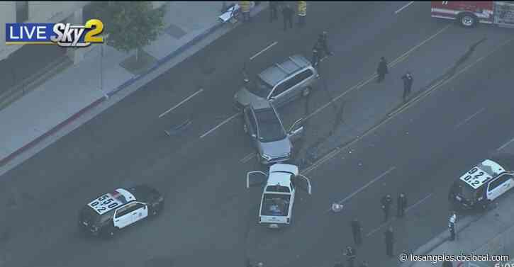 Pursuit Of Alleged Stolen Vehicle Ends In Crash In Westlake District, Multiple Injuries Reported