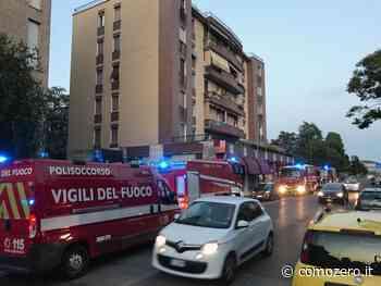 Incendio in un negozio a Mariano Comense, intervento dei vigili del fuoco - ComoZero