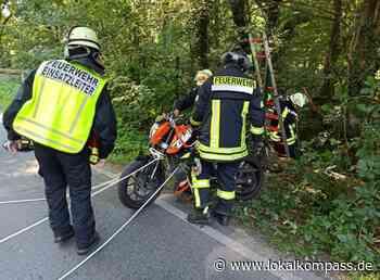 Glück im Unglück: Motorrad verunglückt bei Fahrschulfahrt - Lokalkompass.de