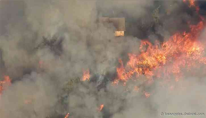 Evacuations Ordered As Apple Fire Burns 350 Acres In Cherry Valley, Threatens Homes