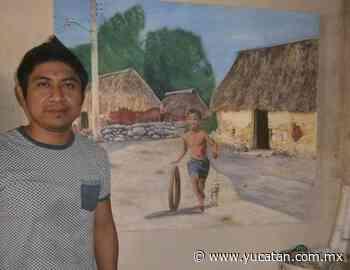 Joven pintor de Tixkokob viajará a Baja California - El Diario de Yucatán