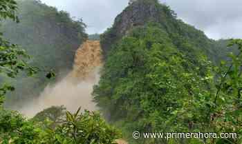 Impresionantes imágenes del cañón San Cristóbal tras lluvias de la tormenta Isaías - Primera Hora