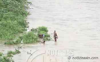 Menores se lanzan a río Nigua en San Cristóbal pese a la crecida - Noticias SIN - Servicios Informativos Nacionales