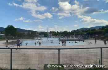 Le bassin du plan d'eau des Marres à Sisteron momentanément vidé - Haute-Provence Info