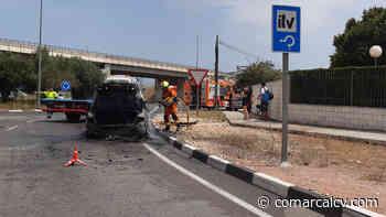 Se incendia un vehículo en la entrada de Gandia - ComarcalCV