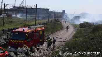 Un feu de broussailles se déclare sur le port de Dunkerque - La Voix du Nord