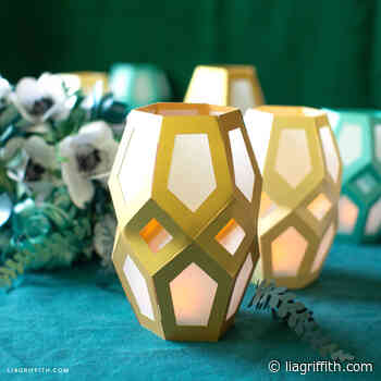 Papercut Geometric Garden Lanterns