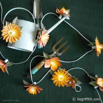 Frosted Paper Flowers for String Lights