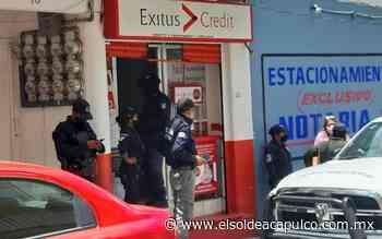 """Sujetos armados irrumpen empresa """"Éxitos Credit"""" en Chilpancingo - El Sol de Acapulco"""