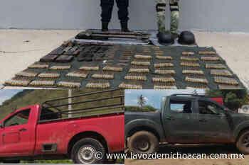 Tepalcatepec: aseguran 626 cartuchos, artefactos explosivos, un arma y dos vehículos - La Voz de Michoacán