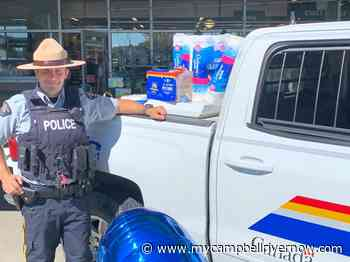 Over 2000 pounds of food donated at Campbell River 'Cram-A-Cruiser' charity drive - My Campbell River Now