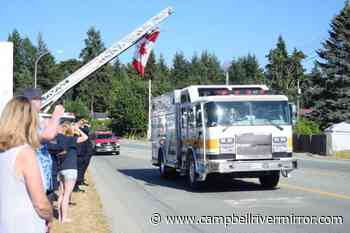 Campbell River fire deparment joins in tribute to fallen Sproat Lake firefighter - Campbell River Mirror