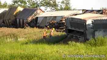 Crews to remain on scene of Manitoba train derailment for clean up - CTV News Winnipeg