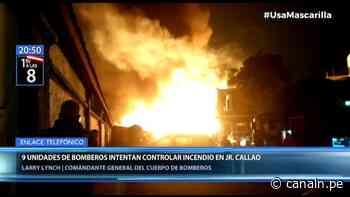 Incendio se registró en el jirón Callao en el Cercado de Lima - Canal N