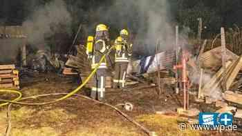 Finnentrop: Erneut hält Gartenhüttenbrand Feuerwehr in Atem - Westfalenpost